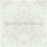Vliesové tapety na stenu Spotlight - zámocký vzor biely