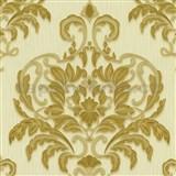 Vliesové tapety na stenu Spotlight - zámocký vzor zlato-béžový