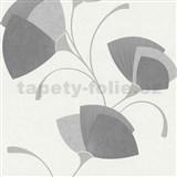 Vliesové tapety na stenu Spotlight - listy sivé