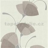 Vliesové tapety na stenu Spotlight - listy svetlo ružové