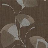 Vliesové tapety na stenu Spotlight - listy hnedé