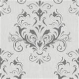 Vliesové tapety na stenu Spotlight 2 zámocký vzor sivý na krémovom podklade