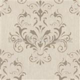 Vliesové tapety na stenu Spotlight 2 zámocký vzor hnedý so zlatými odleskami