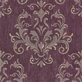 Luxusné vliesové tapety na stenu Spotlight 2 zámocký vzor tmavo ružový - POSLEDNÉ KUSY