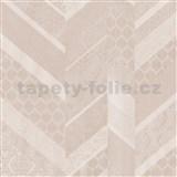 Vliesové tapety na stenu Spotlight 2 drobné kašmírové vzory tvorené do pruhov naružovelé