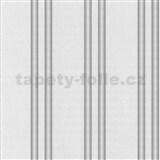 Vliesové tapety na stenu Spotlight pruhy sivé so striebornými prúžkami