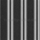 Vliesové tapety na stenu Spotlight pruhy čierno-sivé so striebornými prúžkami