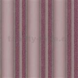 Vliesové tapety na stenu Spotlight 2 pruhy štruktúrované ružovo-čierne