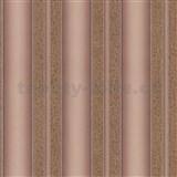 Vliesové tapety na stenu Spotlight pruhy štruktúrované hnedo-zlaté