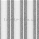 Vliesové tapety na stenu Spotlight pruhy štruktúrované sivo-strieborné