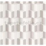 Vliesové tapety na stenu Spotlight 3D kocky sivé