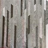 Vliesové tapety na stenu Spotlight 2 pásky čierne/strieborné/sivé
