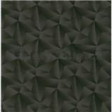 Vliesové tapety na stenu IMPOL Spotlight 3 ihlany 3D čierne s metalickými odleskami