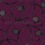 Vliesové tapety na stenu Studio Line - Magic Circles - hnedé na fialovom podklade