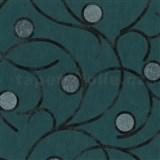 Vliesové tapety na stenu Studio Line - Magic Circles - čierne na zelenom podklade