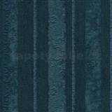 Vliesové tapety na stenu Studio Line - Opulent pruhy tyrkysové s trblietkami