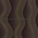 Vliesové tapety na stenu Studio Line - Graceful vlnovky zlato-hnedé - POSLEDNÝ KUS