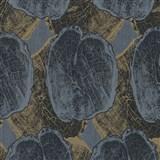 Vliesové tapety na stenu Studio Line - Ligneous modro-hnedé