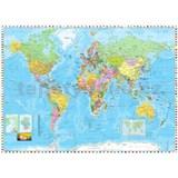 Vliesové fototapety mapa sveta rozmer 254 cm x 184 cm