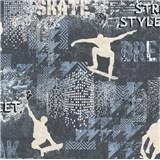Vliesové tapety na stenu IMPOL Sweet and Cool skate - street style sivo-modrý