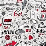 Vliesové tapety na stenu IMPOL Sweet and Cool Hashtag červeno-sivé