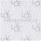 Vliesové tapety na stenu IMPOL Sweet and Cool LOVE svetlo sivé