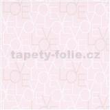 Vliesové tapety na stenu IMPOL Sweet and Cool LOVE ružové