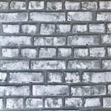 Papierové tapety na stenu Sweet & Cool tehlová stena sivá