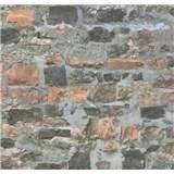Papierové tapety na stenu Sweet & Cool kamenná stena hnedo-sivá