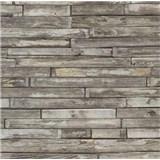 Tapety na stenu papierové - drevený klinker natural