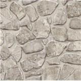 Tapety na stenu papierové - kamenný múr svetlo hnedá