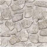 Tapety na stenu papierové - kamenný múr svetlo šedá