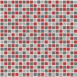 Vinylové tapety na stenu kachličky mozaika sivo-červená