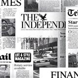 Papierové tapety na stenu noviny Newspaper