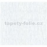Vliesové tapety na stenu štruktúrovaná bielo-sivá so striebornými trblietkami