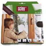 Samolepiace tesnenia do okien a dverí 6m profil D, tesnenia 3,5-6,5mm, hnedé