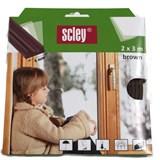 Samolepiace tesnenia do okien a dverí 6m profil E, tesnenia 2-3,5mm, hnedé