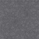 Vliesové tapety IMPOL Timeless ornamenty čierne so striebornými trblietkami na čiernom podklade