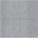 Vliesové tapety IMPOL Timeless drobné ornamenty sivé na čiernom podklade