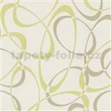 Tapety na stenu Timeless - elipsy zeleno-hnedé