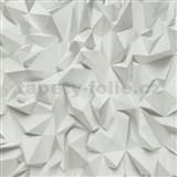 Vliesové tapety na stenu Times - 3D hrany sivé