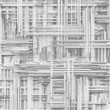 Vliesové tapety na stenu Times 3D modern bielo-sivé