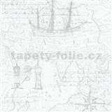 Vliesové tapety na stenu Times mapa svetlo sivá