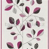Vliesové tapety na stenu Trend Edition listy ružové