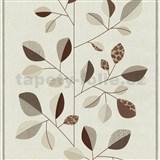 Vliesové tapety na stenu Trend Edition listy hnedé