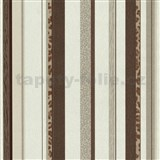 Vliesové tapety na stenu Trend Edition pruhy hnedé