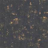 Vliesové tapety na stenu Trendwall omietkovina zlato-čierna