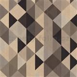 Vliesové tapety na stenu Trendwall moderný grafický vzor hnedo-čierny
