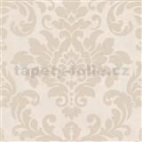 Vliesové tapety na stenu Trendwall barokný vzor zlatý na krémovom podklade