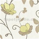 Tapety na stenu Trésor Reloaded - japonské kvety - zelené